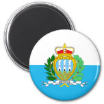 San Marino Flag 6 Cm Round Magnet