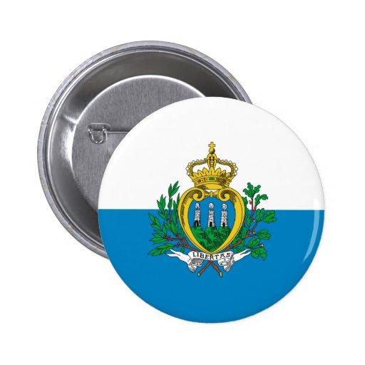 San Marino Flag Button