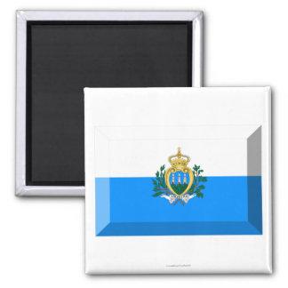 San Marino Flag Jewel Refrigerator Magnets