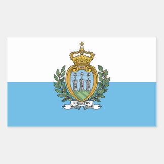 San Marino flag Rectangular Sticker