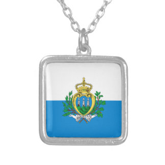 San Marino Flag Silver Plated Necklace