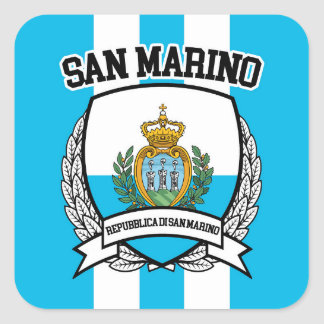 San Marino Square Sticker
