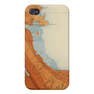 San Mateo quadrangle showing intensity, faults iPhone 4 Cases