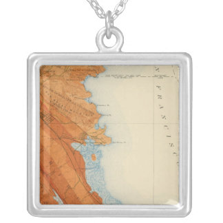 San Mateo quadrangle showing intensity, faults Silver Plated Necklace