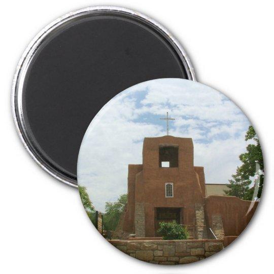 San Miguel Chapel 6 Cm Round Magnet