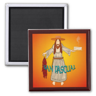 San Pascual - Patron Saint of Kitchens Square Magnet