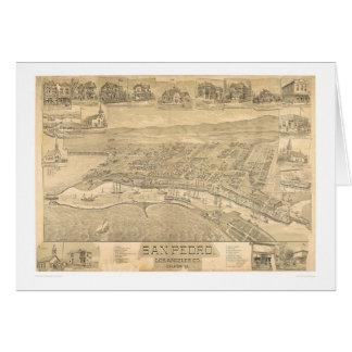 San Pedro, CA. Panoramic Map 1895 (1319A) Greeting Card