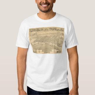 San Pedro, CA. Panoramic Map 1895 (1319A) T Shirts