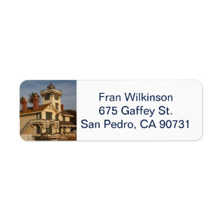 San Pedro California return address label