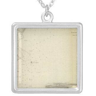 San Pedro Harbor, Calif Silver Plated Necklace