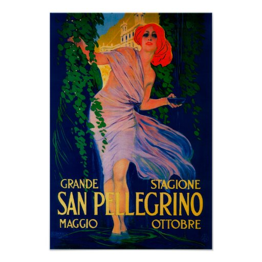 San Pellegrino Vintage PosterEurope Posters