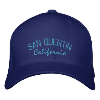 San Quentin California Embroidered Hat