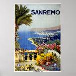 San Remo Italian Mediterranean Travel Poster 1920