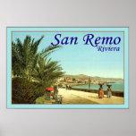 San Remo ~ Riviera ~ Vintage Travel Poster