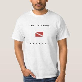 San Salvador Bahamas Scuba Dive Flag T-Shirt