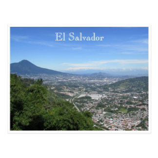 san salvador distant postcard