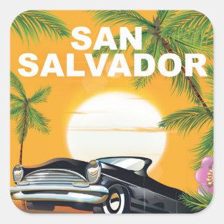 San Salvador Vintage travel poster Square Sticker
