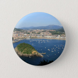 San Sebastian Basque Country Spain scenic view 6 Cm Round Badge