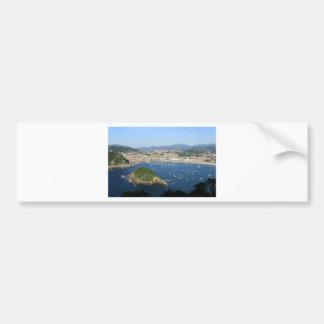 San Sebastian Basque Country Spain scenic view Bumper Sticker