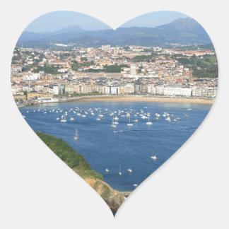 San Sebastian Basque Country Spain scenic view Heart Sticker