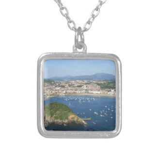 San Sebastian Basque Country Spain scenic view Silver Plated Necklace