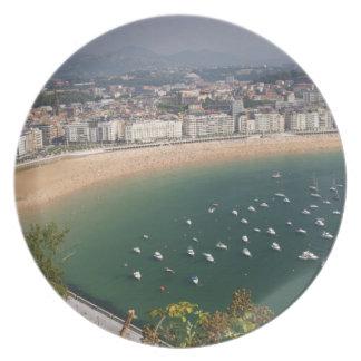 San Sebastian, Spain. The Basque city of San Plate