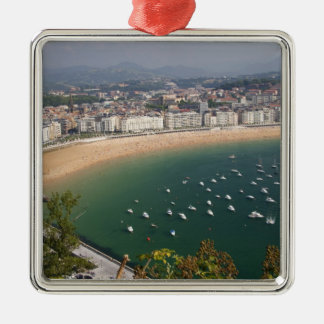 San Sebastian, Spain. The Basque city of San Silver-Colored Square Decoration