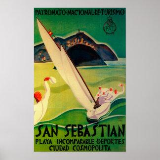 San Sebastian Vintage PosterEurope Poster