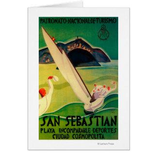 San Sebastian Vintage PosterEurope Card