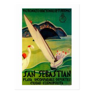 San Sebastian Vintage PosterEurope Post Cards