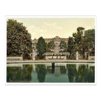 San-Souci, Potsdam, Berlin, Germany rare Photochro Postcard