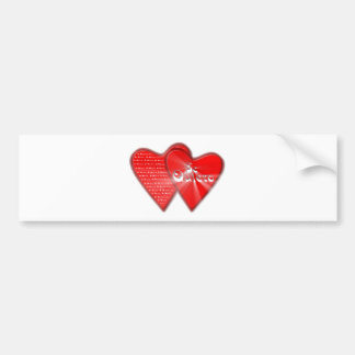 San Valentin is the day of the enamored ones Bumper Sticker