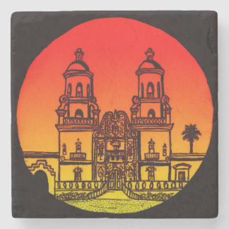 San Xavier del Bac Stone Coaster