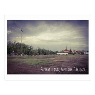 Sanam luang Thailand vintage postcard travel