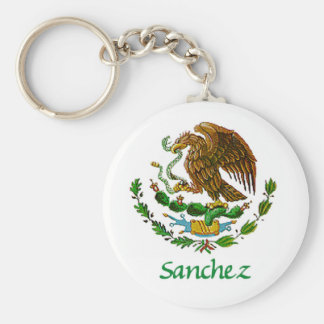 Sanchez Mexican National Seal Key Ring