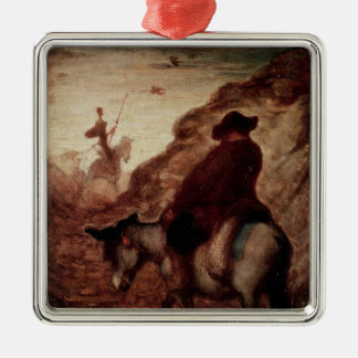 Sancho and Don Quixote, 19th century Christmas Ornament