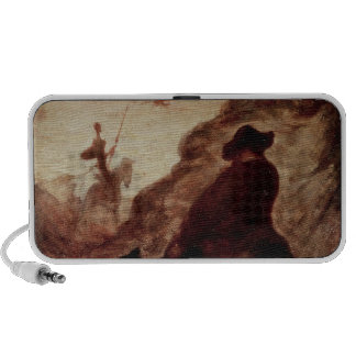 Sancho and Don Quixote, 19th century iPod Speaker