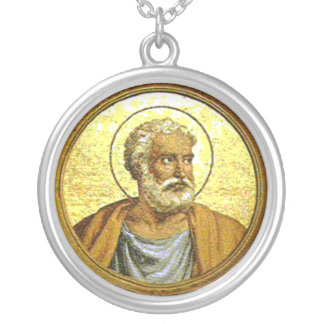 Sancti Petri Apostoli Encolpium Round Pendant Necklace