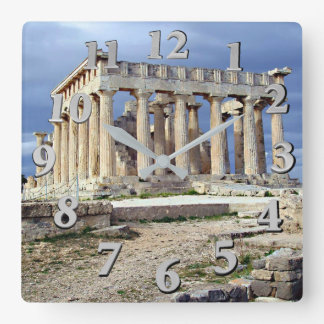 Sanctuary of Aphaia Square Wall Clock