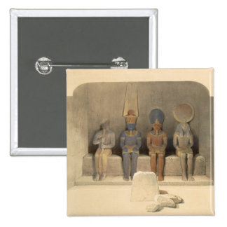 """Sanctuary of the Temple of Abu Simbel, from """"Egypt Pinback Button"""