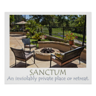 Sanctum - Fabulous backyard on a golf course Poster