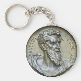 Sanctus Jacobus Jun Basic Round Button Key Ring
