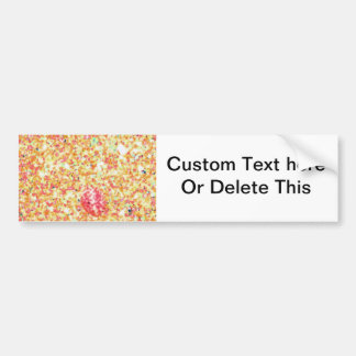 sand abstract shell pink orange bumper sticker
