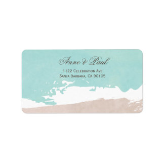Sand and sea Address Labels
