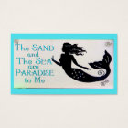 sand and sea mermaid business card 2