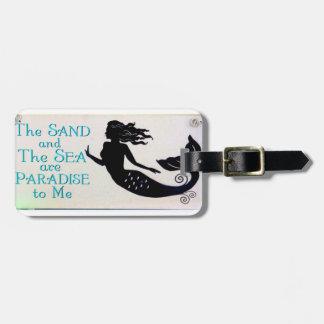sand and sea mermaid luggage tag