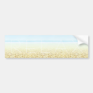 SAND AND SEA 'Relax' Bumper Sticker