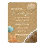 Sand and Shells Beach Bridal Shower 11 Cm X 16 Cm Invitation Card