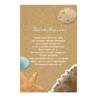 Sand and Shells Beach Directions 14 Cm X 21.5 Cm Flyer