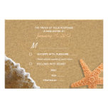 Sand and Shells Beach RSVP with Meal Options Invitation